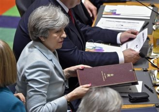 British PM calls Russia 'hostile state' at Brussels summit