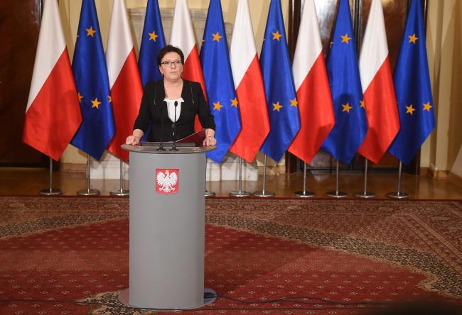 Prime Minister Ewa Kopacz addressed a press conference on Friday. Photo: PAP/Radek Pietruszka
