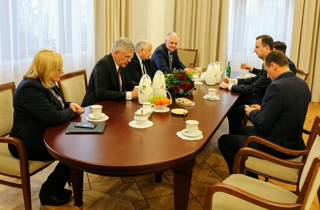 The meeting on Tuesday was attended by all the leaders of the parties in parliament, except one. Photo: Twitter.com/Stanisław Karczewski