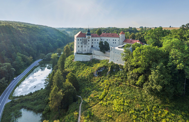 Pieskowa Skała Castle. Drone Photo: Scanning 3D/ Wawel Royal Castle Museum