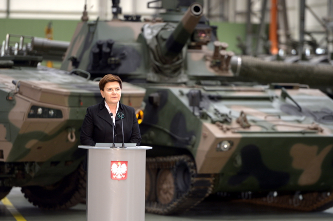 Prime Minister Beata Szydło in Stalowa Wola on Thursday: Photo: PAP/Darek Delmanowicz