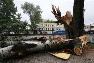 Violent storms hit Poland
