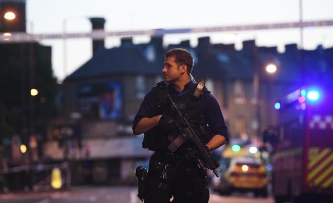Паліцэйскія патрулі на вуліцах Лёндана
