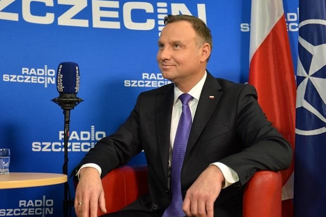 President Andrzej Duda. Photo: Łukasz Szełemej/Radio Szczecin