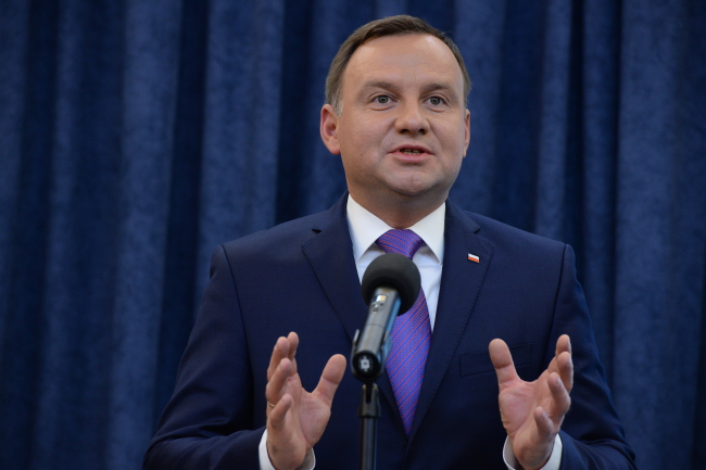 President of Poland Andrzej Duda at a press conference at the Presidential Chancellery. Photo: PAP/Jacek Turczyk