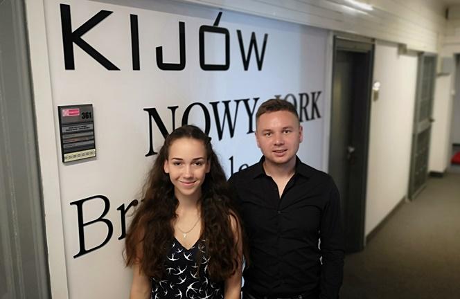 Каріна і Євген на практиці в Польському радіо