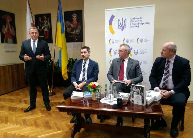Андрій Дещиця, Мірослав Шуміло, Петро Тима і Роман Висоцький. Варшава, 22 січня 2019.