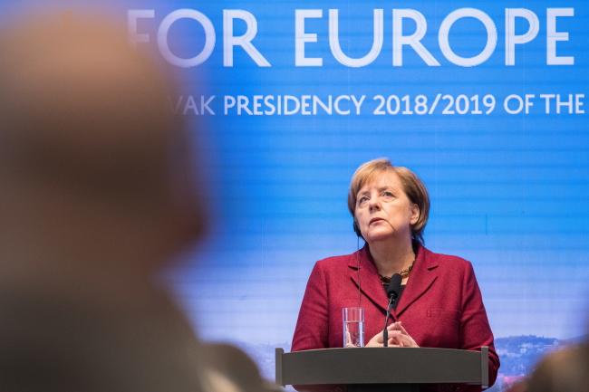 Анґела Меркель на саміті Вишеградської групи, Братислава, 7 лютого 2019 року