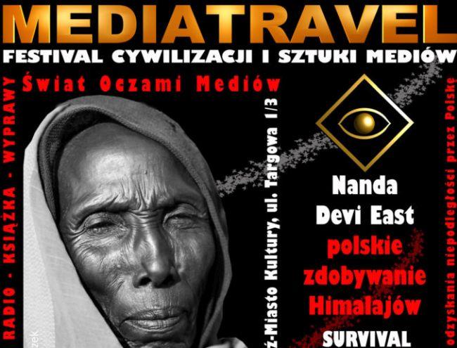 Фрагмент плаката Фестиваля цивилизации и медийного искусства Mediatravel 2018 в Лодзи.