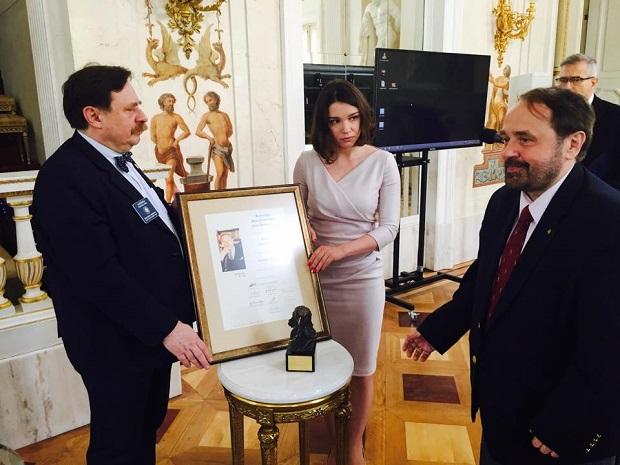 Дочь Бориса Немцова Жанна Немцова на торжественной церемонии награждения.