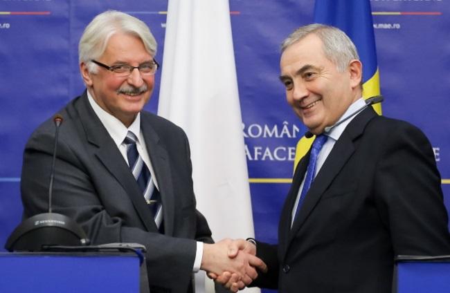 Witold Waszczykowski and Lazar Comanescu. Photo: PAP/Paweł Supernak