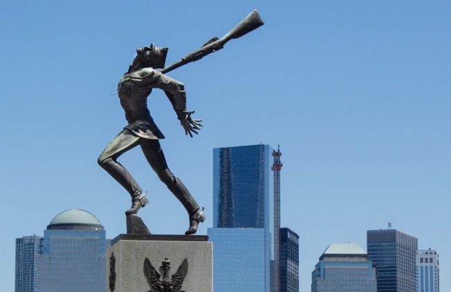 The Jersey City monument to the Katyn massacre. Photo: Eleanor Lang/Wikimedia Commons (CC BY-SA 3.0)
