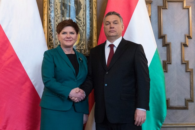 Polish Prime Minister Beata Szydło and Hungarian counterpart Viktor Orban. Photo: Premier.gov.pl
