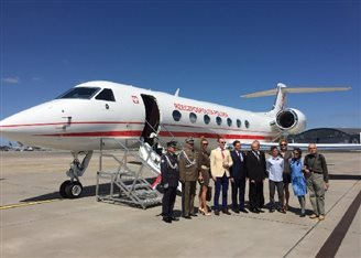 First gov't VIP plane lands in Poland