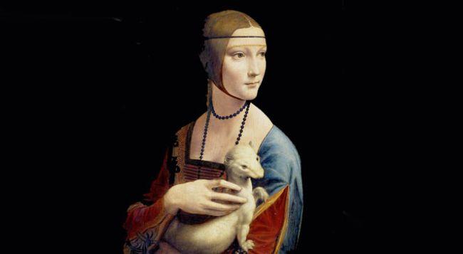 """""""Дама с горностаем"""" Леонардо да Винчи из коллекции князей Чарторыйских - жемчужина в собраниях Национального музея в Кракове."""