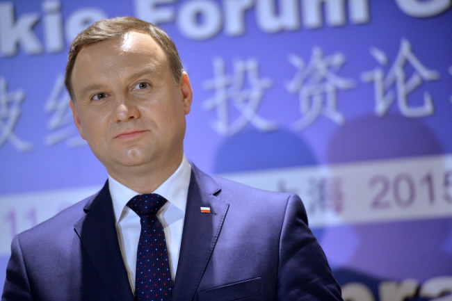 President Andrzej Duda speaks at the Poland-China Trade and Investment Forum. Photo: PAP/Jacek Turczyk
