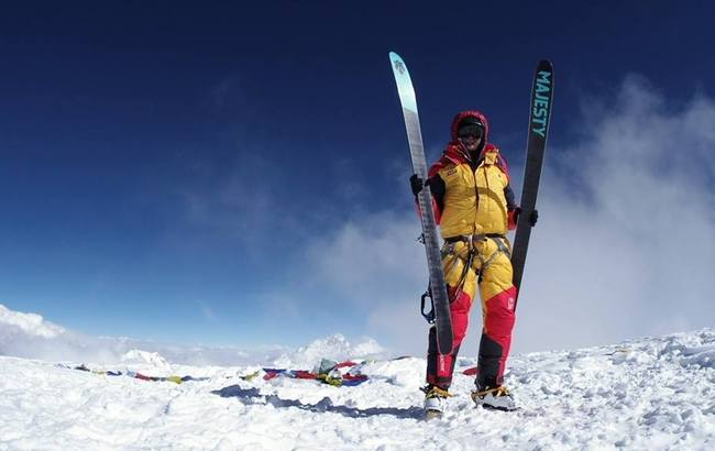 Olek Ostrowski on Cho Oyu in 2014. Photo: Facebook/Olek Ostrowski