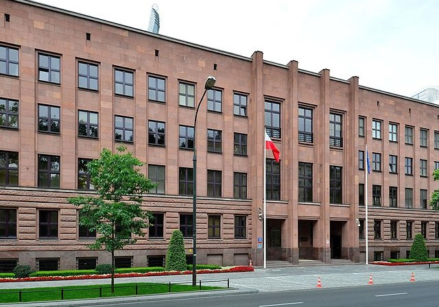 Poland's Ministry of Foreign Affairs building in Warsaw. Photo: Wikimedia Commons/Adrian Grycuk.