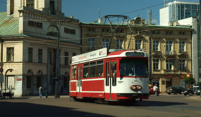 A tram in Łódż. Photo: wikimedia commons/aktron