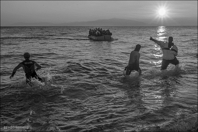Refugees arrive in Greece. Photo:Flickr.com/ggia