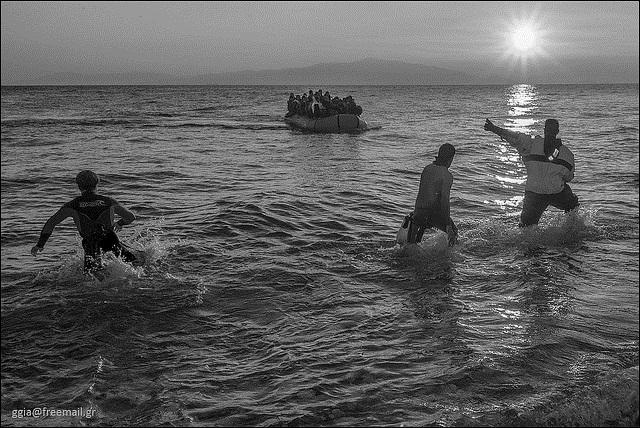 Refugees arrive in Greece. Photo:Flickr.com/ggia