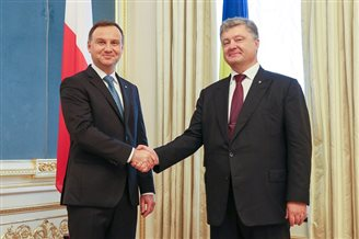 Ukrainian president thanks Poland for support