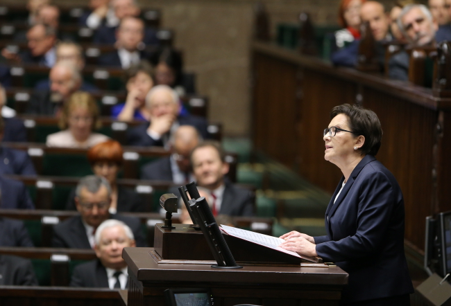 Ewa Kopacz stands down as prime minister. Photo: PAP/Paweł Supernak