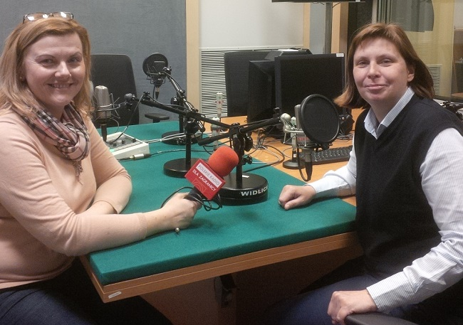 Monika Krawczyk, CEO of the Foundation for the Preservation of Jewish Heritage in Poland, in the Radio Poland studio