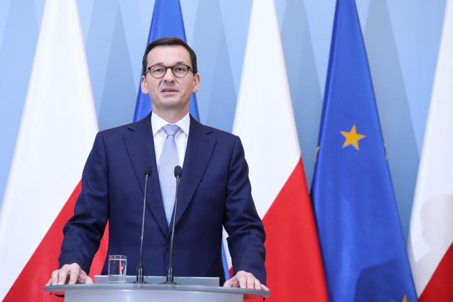 Глава правительства Матеуш Моравецкий.