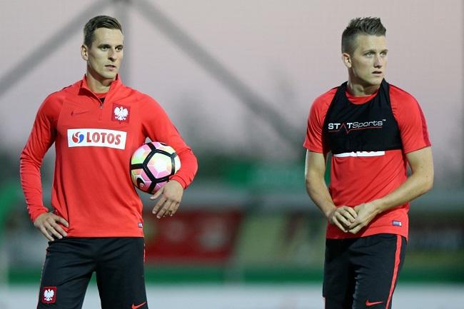 Arkadiusz Milik and Piotr Zieliński. Photo: PZPN.