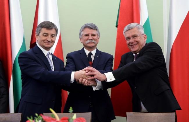 Marek Kuchciński, Laszlo Kover and Stanisław Karczewski. Photo: PAP/Tomasz Gzell
