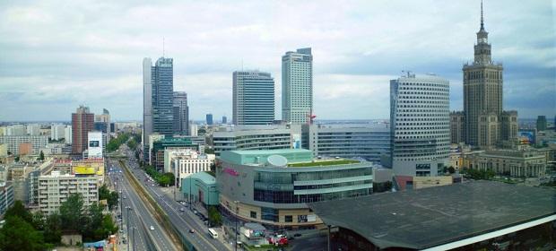 Stadtzentrum von Warschau
