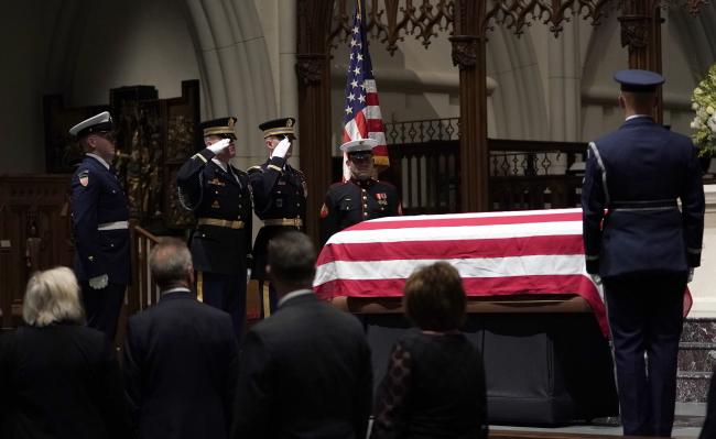 Церемония прощания с Джорджем Бушем-старшим
