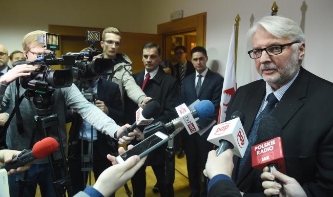 Міністр закордонних справ Польщі Вітольд Ващиковський, Львів, 4 листопада 2017 року