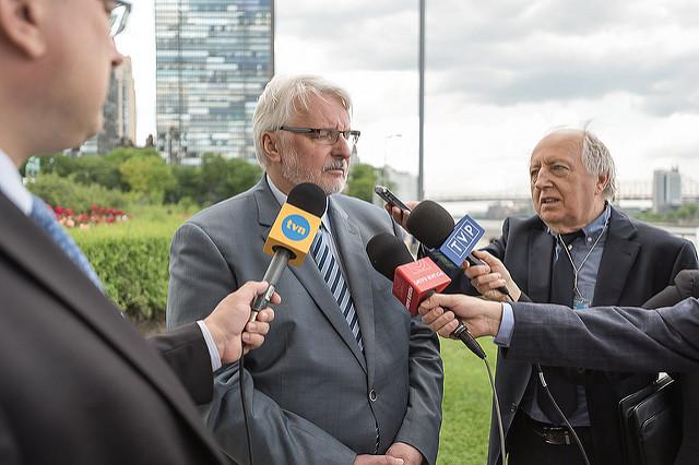 Polish FM Witold Waszczykowski (C). Photo: Flickr.com/MSZ