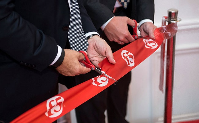 The symbolic opening ceremony of the new F5 hub in Warsaw. Photo: PAIiIZ