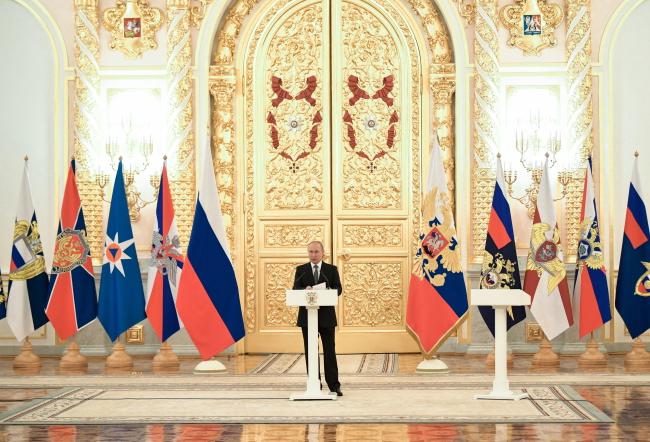 Владимир Путин в Кремле 11 апреля 2019 года