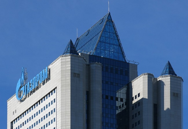 "The Moscow headquarters of Russian gas giant Gazprom. Photo: ""Boevaya mashina"" [CC BY-SA 4.0 (https://creativecommons.org/licenses/by-sa/4.0)], from Wikimedia Commons"