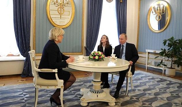 Марин Ле Пен и Владимир Путин в Москве 24 марта 2017 года