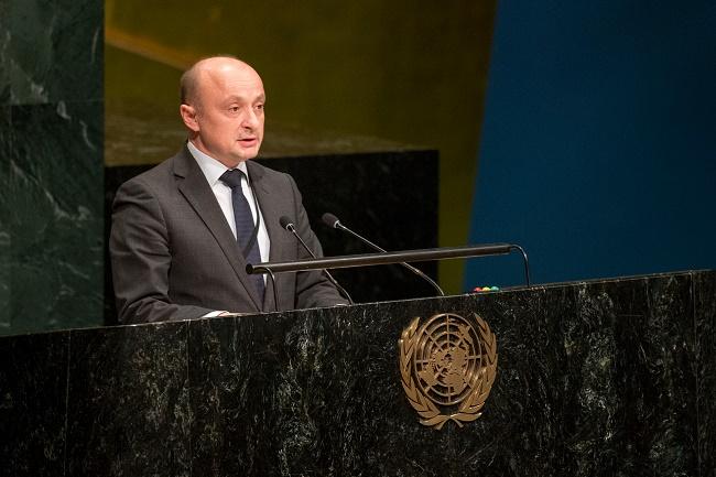 Andrzej Misztal at the UN. Photo: MSZ