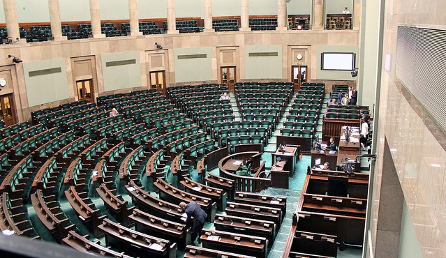 The lower house of Polish parliament. Photo: Lukas Plewnia