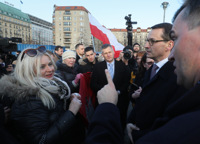 Gольський прем'єр-міністр Матеуш Моравєцький в Берліні, 16 лютого 2018 року