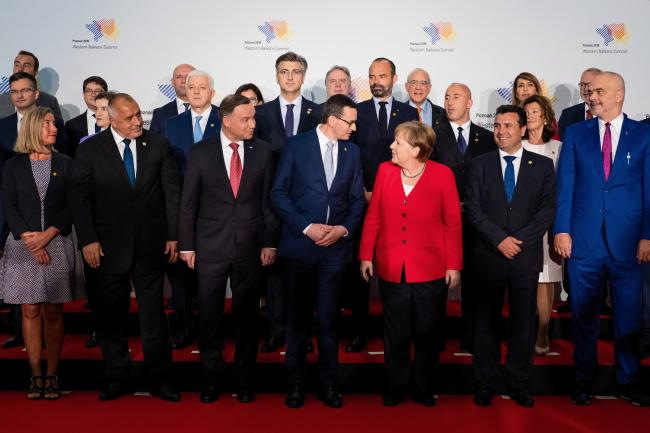 Главы делегаций на саммите Западных Балкан в Познани.