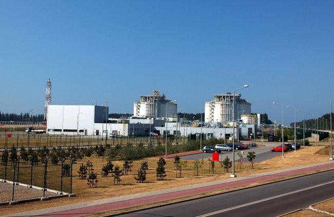 Газовый терминал в Свиноуйсце.