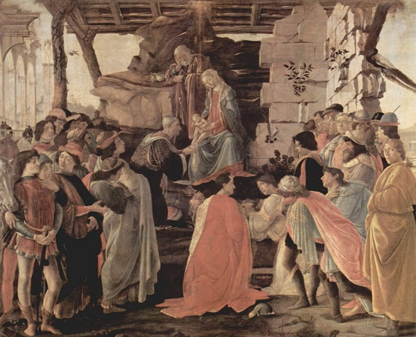 Сандро Ботичелли.  Поклонение волхвов.