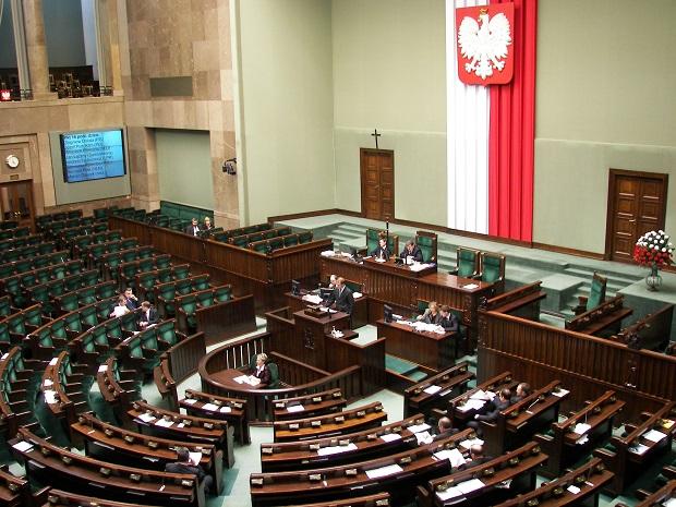 Der Plenarsaal im polnischen Sejm