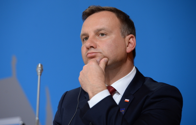 President of Poland Andrzej Duda at a press conference on Tuesday in Erfurt, Germany, after meeting ten of his European counterpartsPAP/Jacek Turczyk