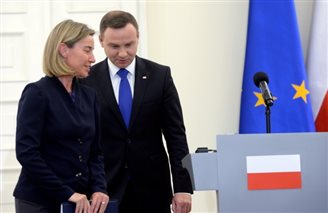 EU foreign policy chief in Poland