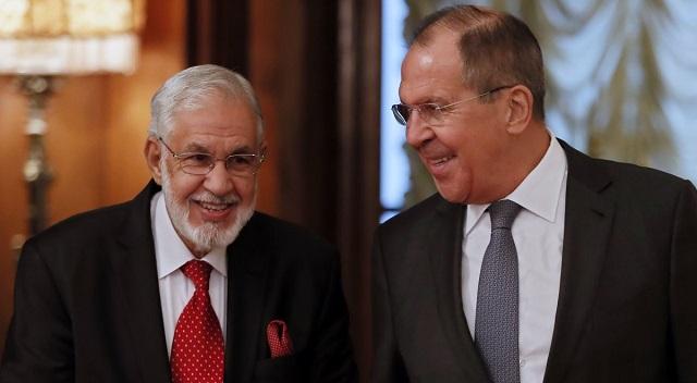 Главы МИД России и Ливии Сергей Лавров и Мохамед Тахир Сияла.