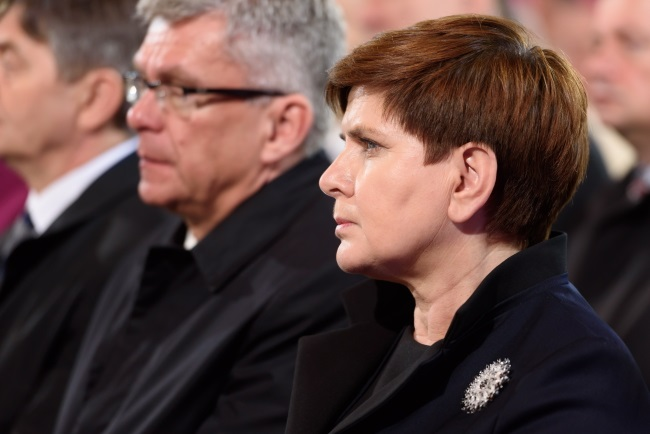 PM Beata Szydło (right). Photo: PAP/Jakub Kaczmarczyk